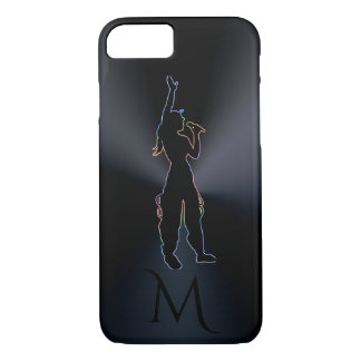 Black Psychedelic Singer Vocalist Monogram iPhone 8/7 Case
