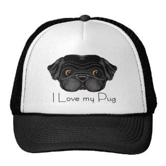 Black Pug Cap