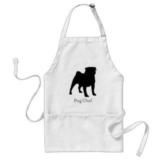 Black Pug Chef Apron