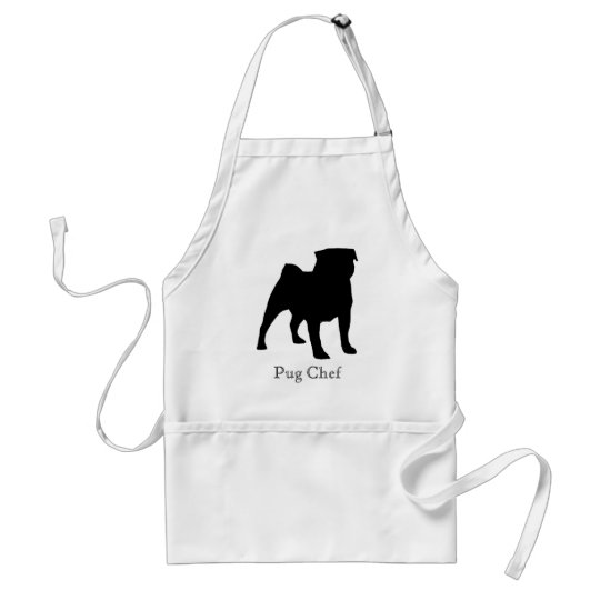 Black Pug Chef Apron