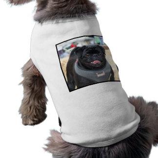Black Pug Dog Sleeveless Dog Shirt