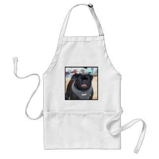 Black Pug Dog Standard Apron