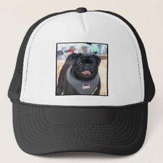 Black Pug Dog Trucker Hat