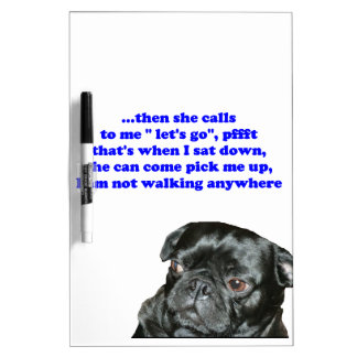 black pug dry erase board