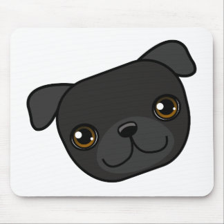 Black Pug Mouse Pad