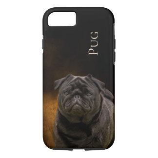 Black Pug Phone Cover