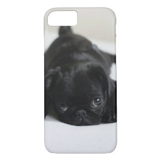 Black Pug Puppy iPhone 7 Case