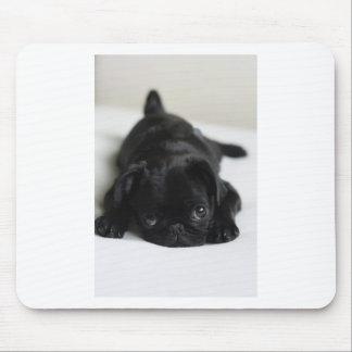 Black Pug Puppy Mouse Mat