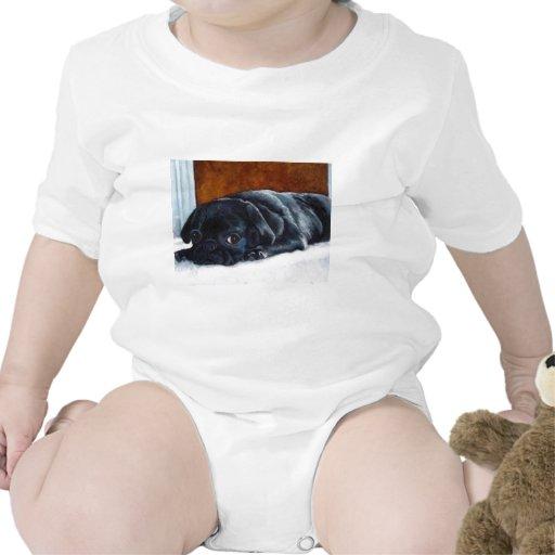 Black Pug Puppy T Shirt