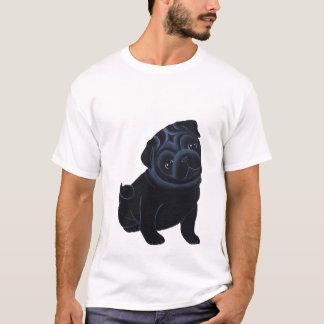 Black Pug Puppy T-shirt