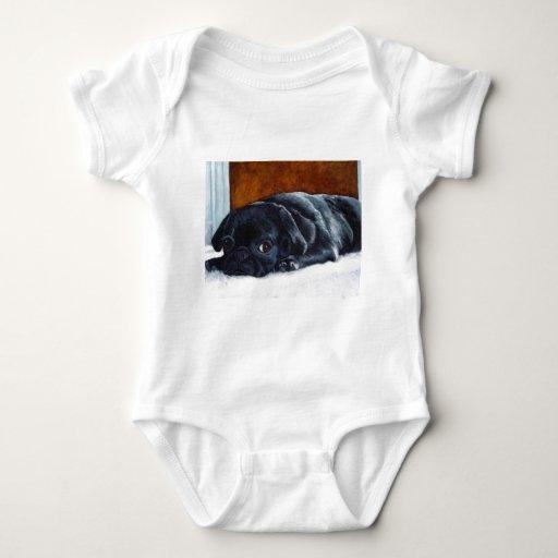 Black Pug Puppy Tshirt