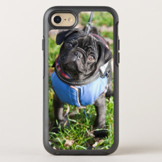 Black Pug Puppy Wearing A Jacket OtterBox Symmetry iPhone 8/7 Case