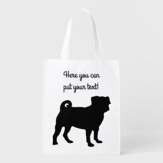 Black Pug Silhouette - Simple Vector Design