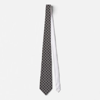 Black Pug Silhouettes on Grey Background Tie