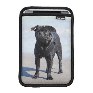 Black Pug Standing On The Beach iPad Mini Sleeve