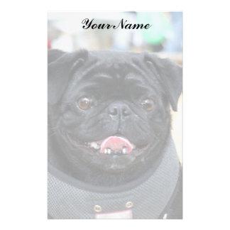 Black Pug Stationary Personalised Stationery