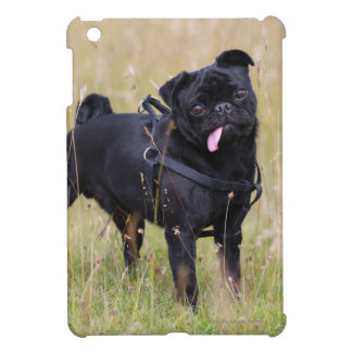 Black Pug Sticking Out Tounge iPad Mini Cover