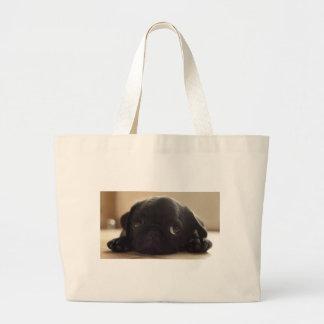 Black puggy jumbo tote bag