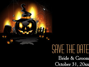 Halloween Save The Date Cards Zazzle Uk