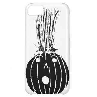 Black Pumpkin with Hair Case For iPhone 5C