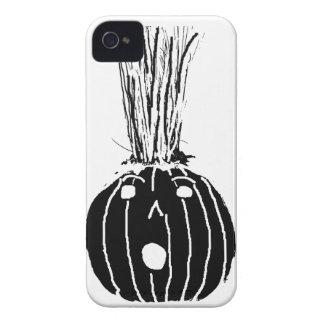 Black Pumpkin with Hair iPhone 4 Cover