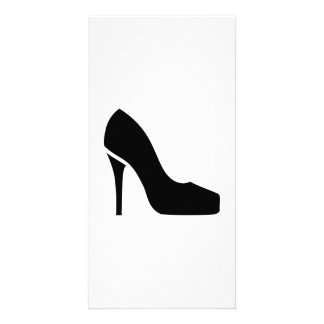 Black pumps personalised photo card