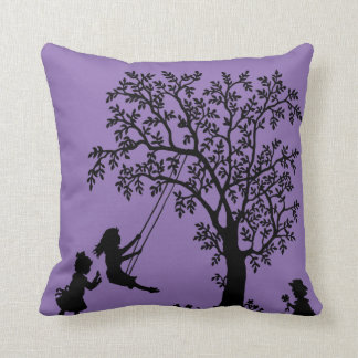 Black purple Abstract Tree kids playing pillow