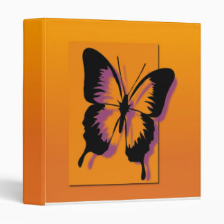 Black Purple Butterfly Vinyl Binders