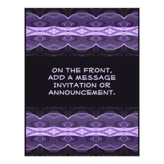 black purple deco 21.5 cm x 28 cm flyer