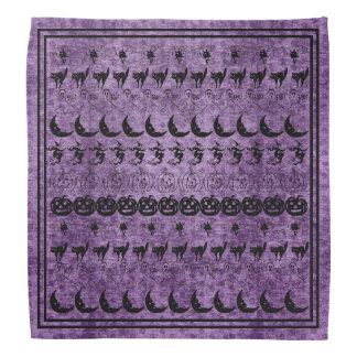 Black/Purple Halloween Fun Font Art Pattern Bandana