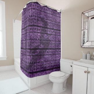 Black/Purple Halloween Witch Fun Font Art Pattern Shower Curtain