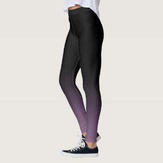 Black Purple Mulberry Gradient Fade Leggings
