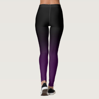 Black & Purple Ombre Legginings Leggings