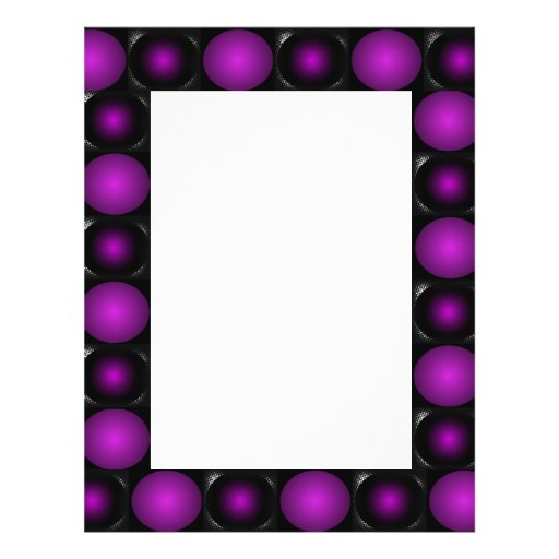 Black & Purple Spheres 3D Textured Design Full Color Flyer