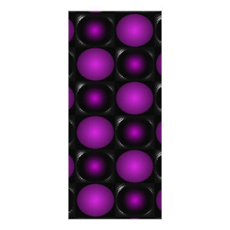 Black & Purple Spheres 3D Textured Design Rack Card