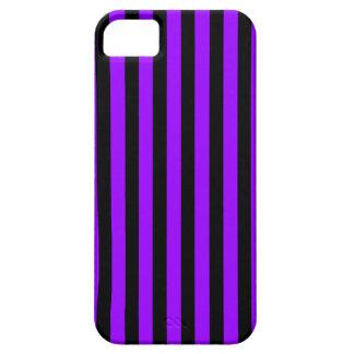 Black Purple Stripes vertical iPhone 5 case