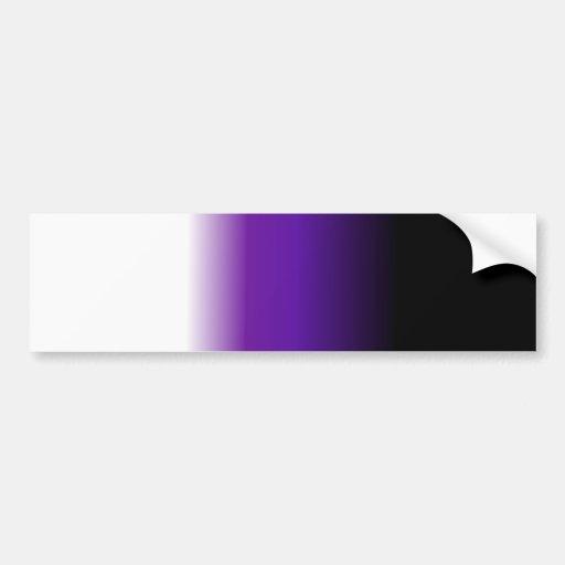 Black Purple White Ombre Bumper Sticker