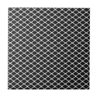 Black Quatrefoil Tile