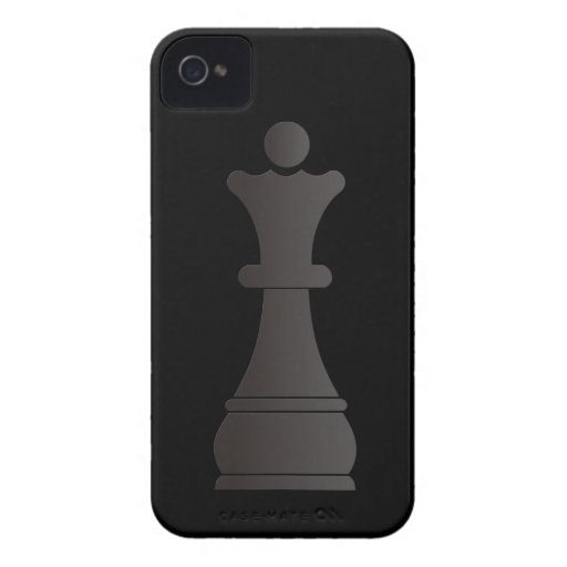 Black queen chess piece iPhone 4 Case-Mate case