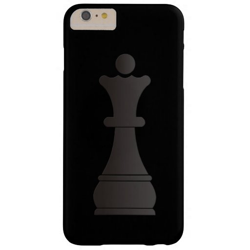 Black queen chess piece barely there iPhone 6 plus case