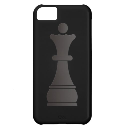 Black queen chess piece iPhone 5C cover