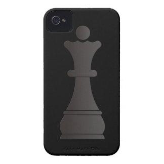Black queen chess piece iPhone 4 Case-Mate case