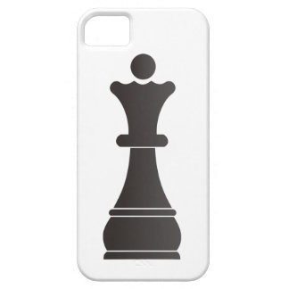 Black queen chess piece iPhone 5 covers