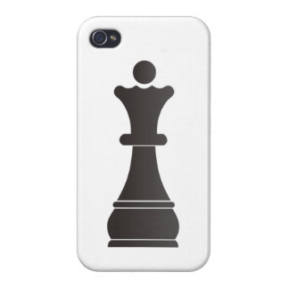 Black queen chess piece case for the iPhone 4