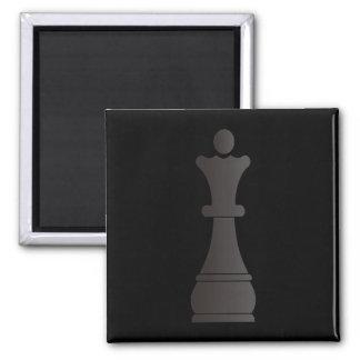 Black queen chess piece fridge magnets