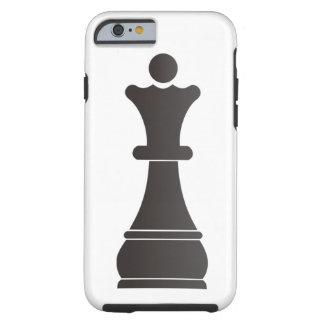 Black queen chess piece tough iPhone 6 case