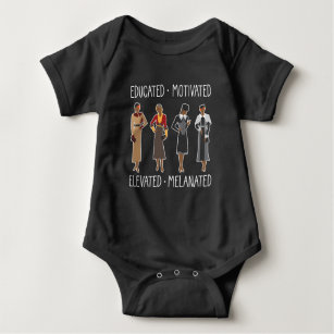 Black Queen Educated Motivated African American Baby Bodysuit