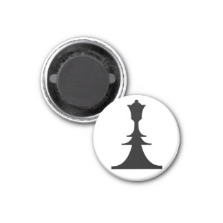 black queen 3 cm round magnet