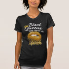 Black Queens are born in March Womens Birthday tee