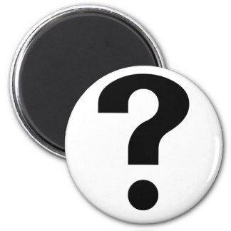 Black Question Mark Fridge Magnet
